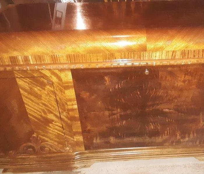 Antique chest restoration through cleaning
