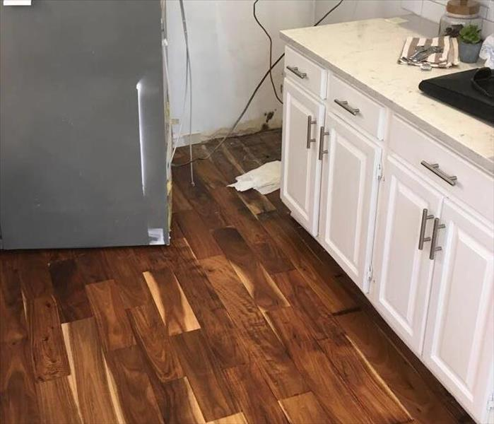 Water loss kitchen pre mitigation