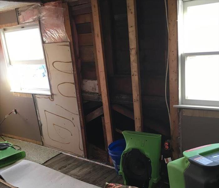 Bedroom after equipment placement