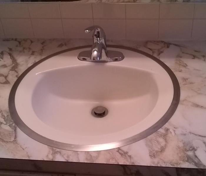 Bathroom Sink after cleaning