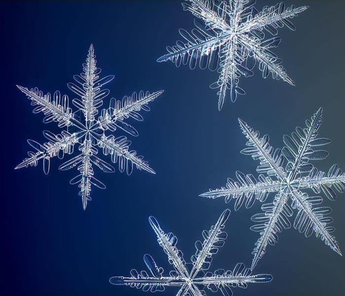 Ready for winter weather - image of snowflakes